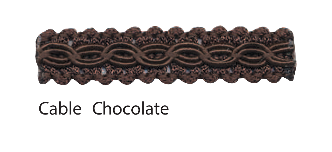Cable Chocolate braid