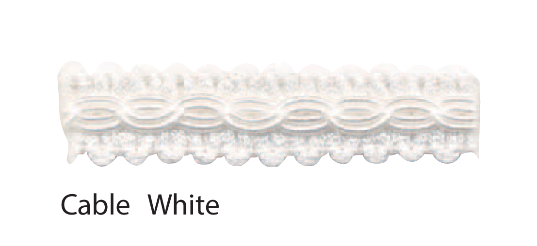 Cable White braid