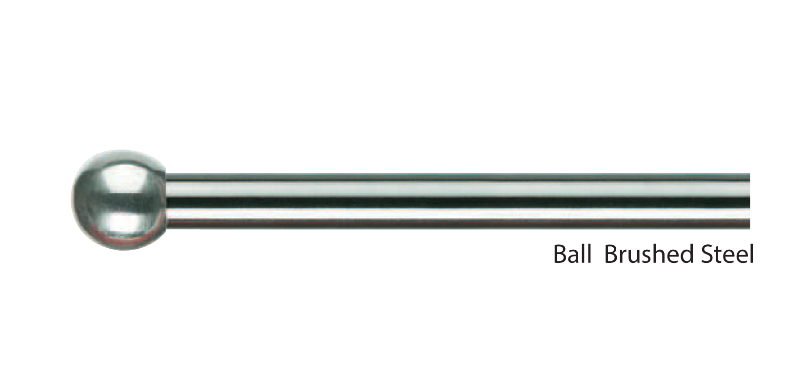 Ball Brushed Steel Pole